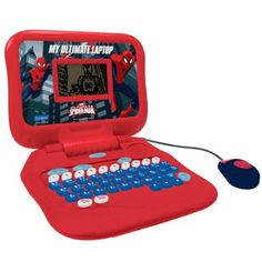 Lexibook Marvel Spider-Man Peter Parker, My Ultimate Laptop, 60 Bilingual Activities (English/French) to Learn and Play, Red/Blue Cool Beds For Kids, Kids Toys For Boys, Learning The Alphabet, Learning Toys, Kids Spiderman Costume, Nerf Toys, Electronic Toys, Kids Ride On, Play To Learn