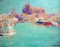 Guy Hoff (American, 1889 - 1962) Puerto de Palma de Mallorca