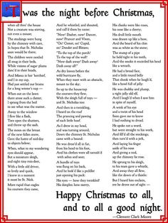 graphic about Twas the Night Before Christmas Poem Printable identify The Poem Twas The Night time In advance of Xmas Merry Xmas