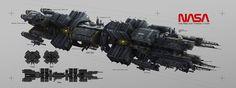 Ship concept by #KenLeBras.  #sciencefiction #scifi #spaceship