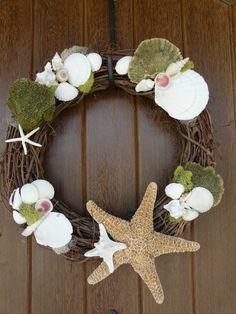 She sells sea shells by the sea shore wreath by bakemeapatticake, $45.00