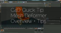 http://www.DigitalSandwich.net This tutorial quickly goes over Cinema 4D's Mesh Deformer. There is a lot more you can do with this deformer, click the link…