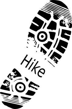 Hike Shoe Print clip art - vector clip art online, royalty free ...