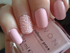This is the only photo of nail pearls I've seen that I actually like the look of. Want to try it out with baby pink.
