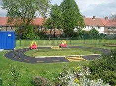 Backyard racetrack for kids.