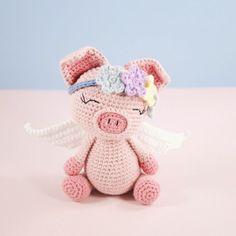 Pippa Pig amigurumi crochet pattern by LittleAquaGirl