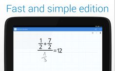 Description With MyScript© Calculator, perform mathematical operations naturally using your handwriting.  Specially designed for Android devices. Easy, simple and intuitive, just write the mathematical expression on the screen then let MyScript technology perform its magic converting symbols and numbers to digital text and delivering the result in real time.