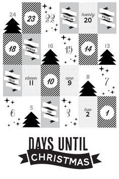 FREE printable advent calendar poster