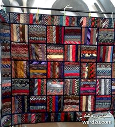 Quilt from mens ties