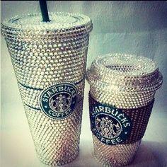 Sparkly Starbucks cups