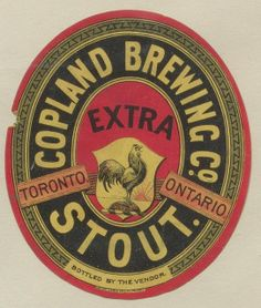 Copland Brewing Co. Extra Stout by Thomas Fisher Rare Book Library, via Flickr