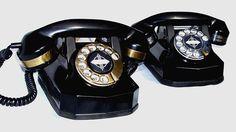 1937 Automatic Electric 40 Art Deco desk phone