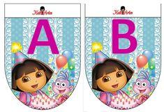 Banderines de cumpleaños de Dora la Exploradora