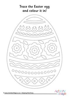 Easter egg tracing page 7