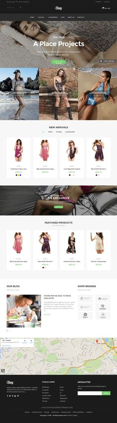 Ishop is a clean and elegant design Shopify #Theme for multipurpose eCommerce…