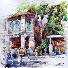 Daniela Scarel: Tia Kee Woon * Watercolor/acrylic Artist * Singapore