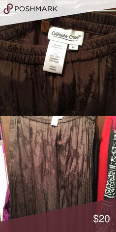 Coldwater creek Coldwater creek maxi skirt brown elastic waist Coldwater Creek Skirts Maxi