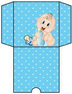 Kit chá de bebê azul!