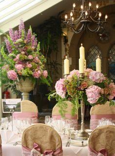 Flower Design Events: Vintage Pink Candelabra Gorgeous!!!!