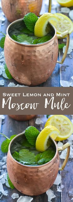 Sweet Lemon and Mint Moscow Mule   www.motherthyme.com