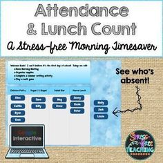 Are you looking for a way to streamline your morning routine? Try this Google Interactive approach to taking attendance and dealing with lunch count. It is simple to use. Display the slide on your whiteboard. As students come into the classroom they c Classroom Attendance, Taking Attendance, Student Attendance, Classroom Procedures, 4th Grade Classroom, New Classroom, Google Classroom, Classroom Organization, Classroom Ideas
