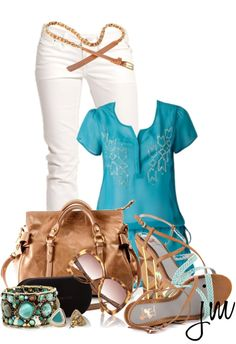 """""""Turquoise"""" by jenniemitchell on Polyvore"""