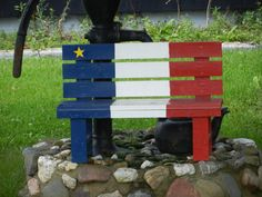 Festival Acadien de Caraquet Caraquet, NB Canada New Brunswick, Canada Travel, Outdoor Projects, Red White Blue, Outdoor Furniture, Outdoor Decor, Craft Gifts, Benches, Genealogy