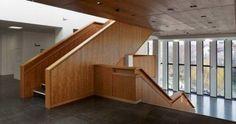 Architectura - Max Dudler gebruikt Amerikaans kersenhout in de nieuwe Stadthalle van Reutlingen / @AHEC Europe