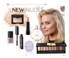 """""""Fall Beauty: Nude Color Palette"""" by swagyniky ❤ liked on Polyvore featuring moda, CO, Yves Saint Laurent, MAC Cosmetics, NARS Cosmetics, Topshop y newnudes"""