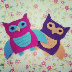 tea and craft: Felt Owls with tutorial and pattern!
