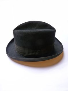 Vintage Black felt hat for man  Circa 1950 by FrenchVintageShop, €50.00
