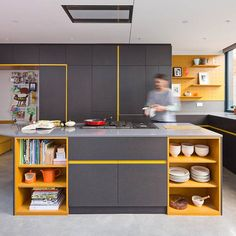 Traces of the original architecture are incorporated throughout this renovated Victorian house in south London, updated by Fraher Architects.