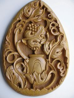 Ooak oval wall hanging panel Filling in, handmade wood carving, relief art, TO BE ORDERED, vine symbol