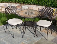 Maximize Space On Your Deck With This Round Pub Table And Tall - Outdoor high top bistro table and chairs