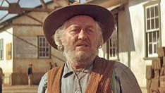 """Strother Martin Best known for roles in """"Cool Hand Luke"""" and """"Butch Cassidy and the Sundance Kid. Old Western Actors, Old Western Movies, Actors Male, Actors & Actresses, 1990s Tv Shows, Strother Martin, Indiana, The Wild Bunch, Sundance Kid"""