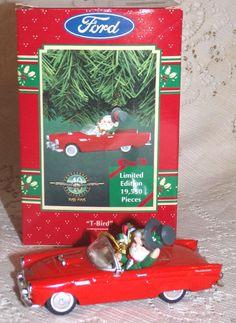 Enesco Treasury of Ornaments Red Ford T-Bird Convertible Limited Edition 1995 #Enesco #Ornament