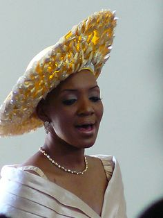 This is labeled as an Easter Sunday hat but I think it could be worn for a number of occasions. Looks great on her