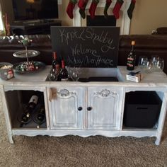 Upclycled/refurbished stereo console - now a great looking bar!! $290.