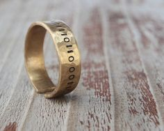 Ring in Binary Rustic Gold Dust Ring
