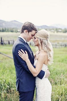 Rustic Romance at the Keystone Ranch, Keystone Resort, CO | Photo By: Marianne Brown Photography Keystone Resort, Green Lawn, Rustic Elegance, The Ranch, Photographers, Romance, Couple Photos, Brown, Wedding