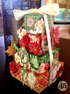 Paperiah: 12 Days of Christmas Stacking Boxes Tutorial