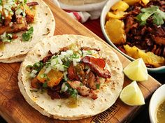 tacos al pastor. Includes bacon!