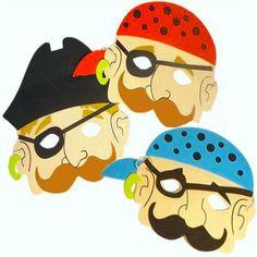 Piraten-Maske aus Moosgummi