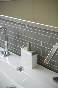 Modern Bathroom Tile. This tile would look good in my master bath with our white countertops.