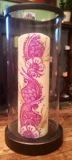 Mehndi candle, by Ellie Verkerk www.ShivaArts.co.uk