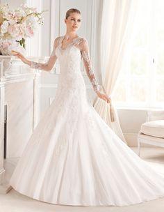 Vestido de novia La Sposa modelo Evita disponible en la tienda de novias De Novia a Novia. San José, Costa Rica.