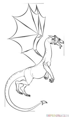 How to draw a dragon step by step dragons draw a dragon how to draw a realistic dragon step by step drawing tutorials for kids and beginners ccuart Choice Image