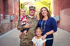 Family photography session, photo by Joanna Smith, Chicago area photographer http://www.joannasmithphotography.com military #photography