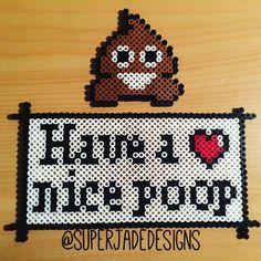 Bathroom quote perler beads by superjadedesigns