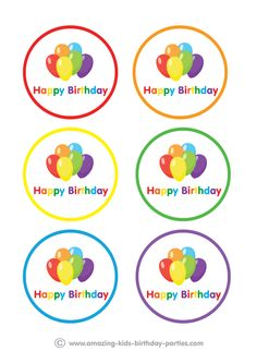 FREE Rainbow Party Table Decorations at http://www.amazing-kids-birthday-party-ideas.com/kids-party.html